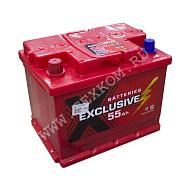 Аккумуляторная батарея Exclusive 6СТ55 прям 242х175х190 Казахстан (ETN-555 401 048)